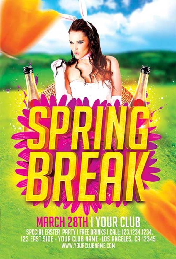 Spring Break Free Flyer Template