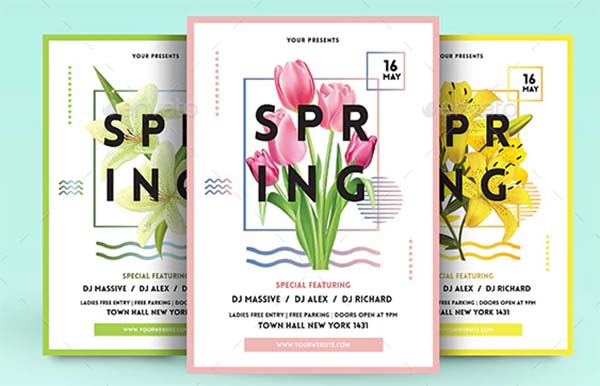 Spring Celebration Flyer Template