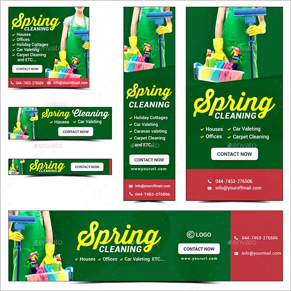 Spring Cleaning Service Banners
