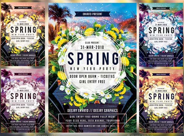 Spring Design PSD Flyer