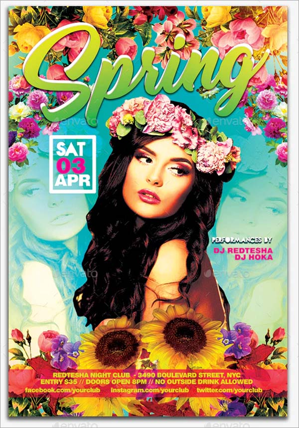 Spring Flyer PSD Design