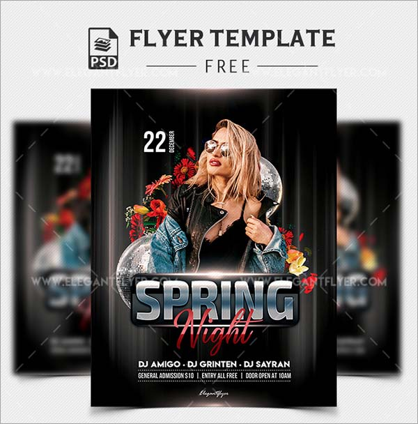 Spring Night Free PSD Flyer Template