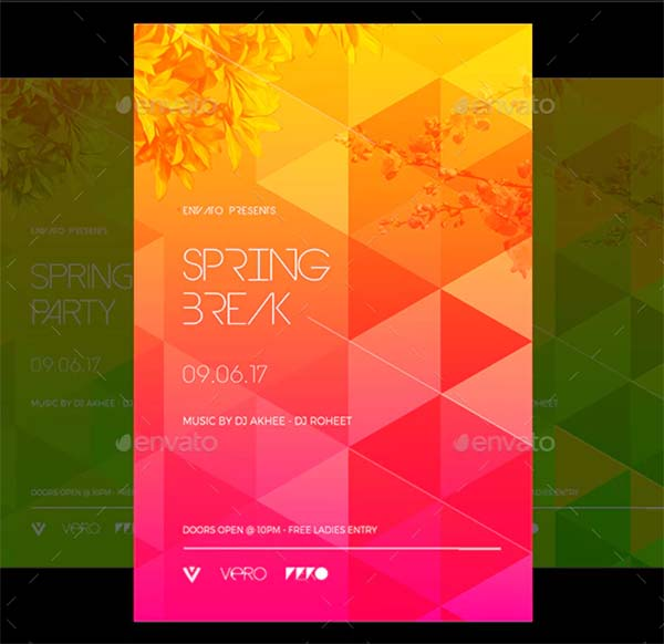 Spring Photoshop Flyer PSD Template