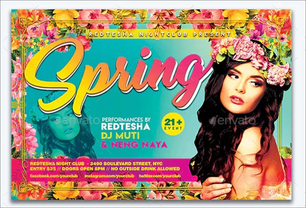 Spring Photoshop Flyer Template