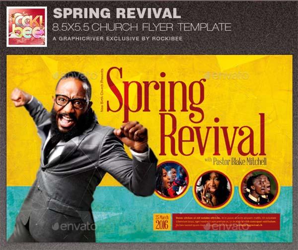 Spring Revival Church Flyer Template