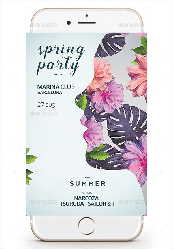 Spring Summer Flyer Template