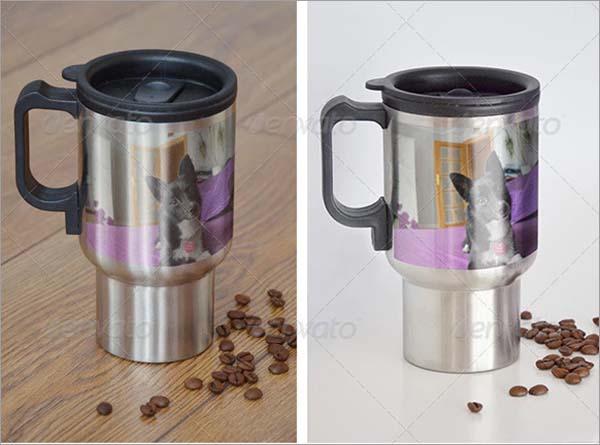 Steel Travel Mug Mockup