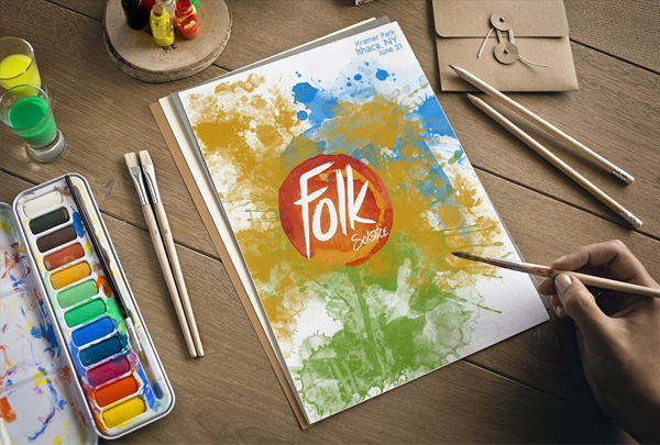 Summer Art Poster & Flyer Template