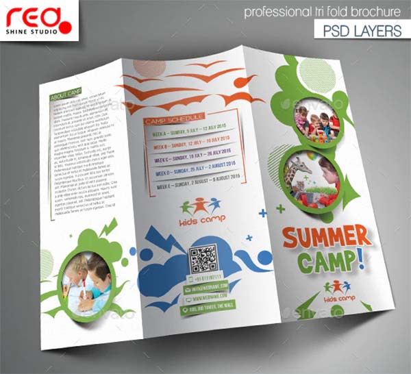 Summer Camp Trifold Brochure Template