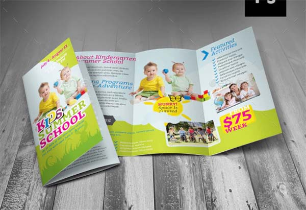 Summer School Trifold Brochure
