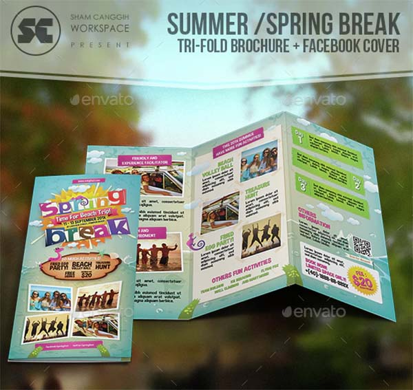 Summer Spring Break Tri-Fold