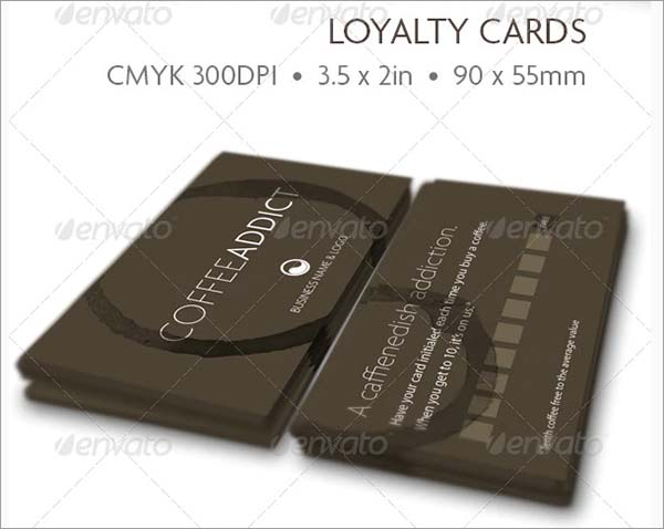 The Coffee Addict Loyalty Card Template