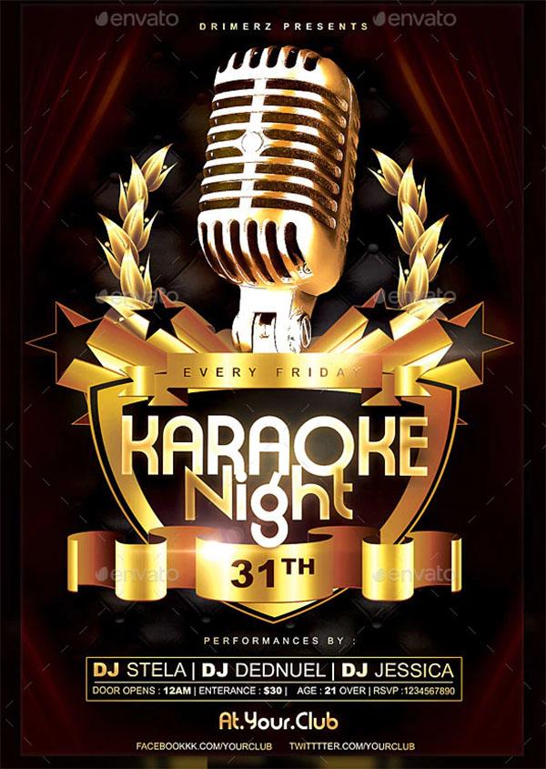 The Karaoke Flyer Template