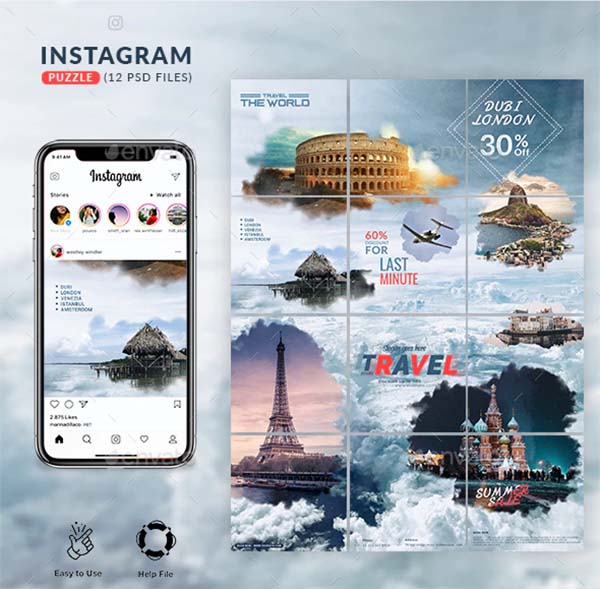 Travel Instagram Puzzle