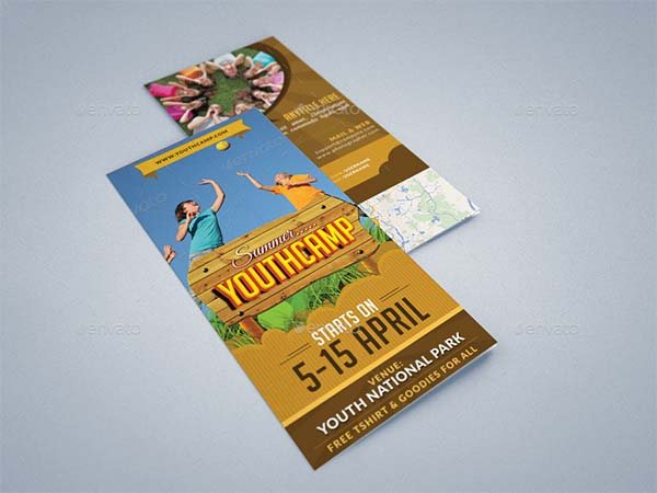 Trifold Brochure Summer Youth Camp