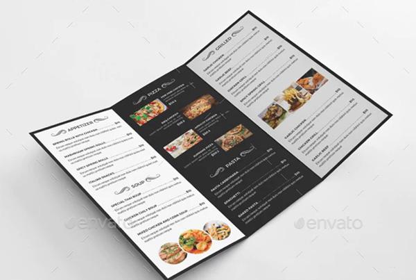 Trifold Brochure for Food Menu