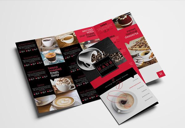 Trifold Cafe Menu Templates