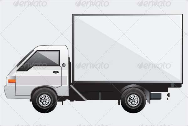 Truck Mockup PSD Template