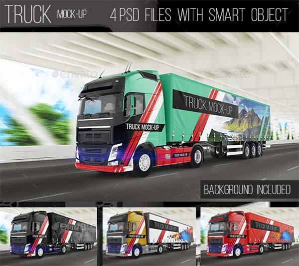 Truck Photoshop Mock-Up