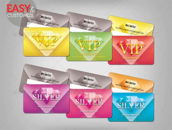 VIP Loyalty Card PSD Template