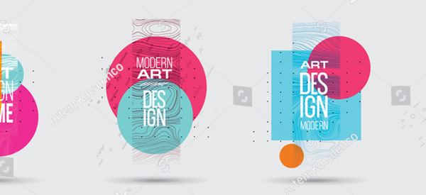 Vector Illustration Art Flyer Template