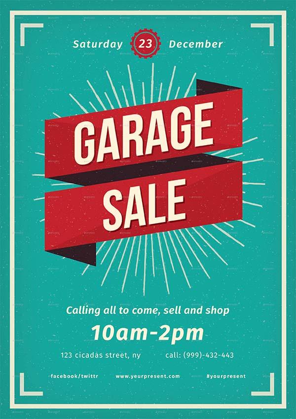 Vintage Garage Sale Flyer