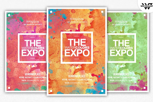 Watercolor Flyer Templates