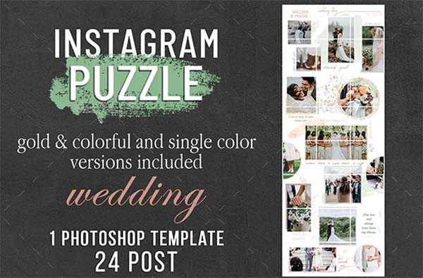 Wedding Instagram Puzzle Template