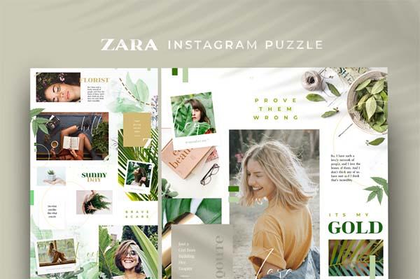 Zara Instagram Puzzle Template