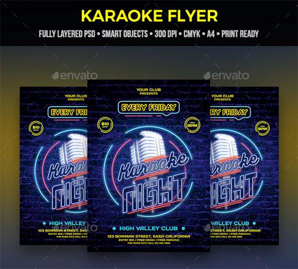 karaoke show Flyer Template