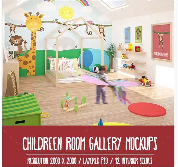 12 Children Room Gallery Mockups Pack