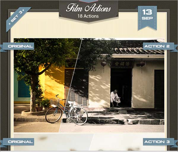 3 Photoshop Film Actions Set