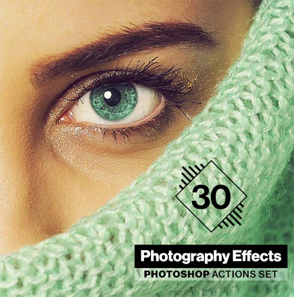 30 Photoshop Actions Design Set