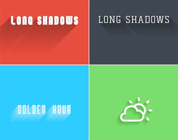 3D Long Shadows Generator Photoshop Action Set