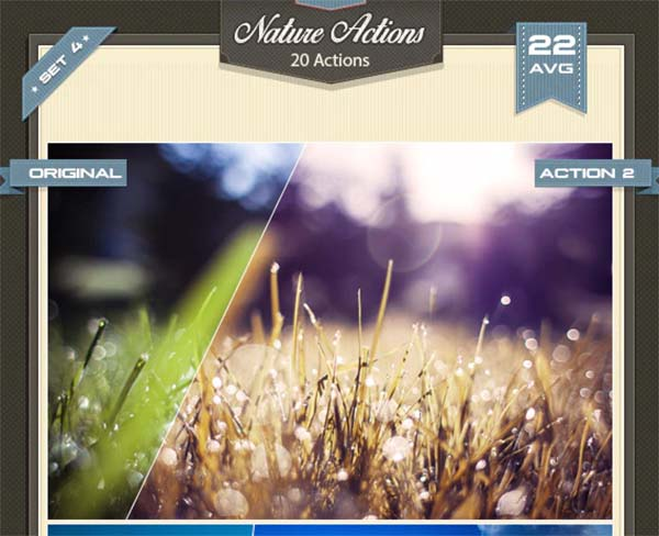 4 Nature Photoshop Actions