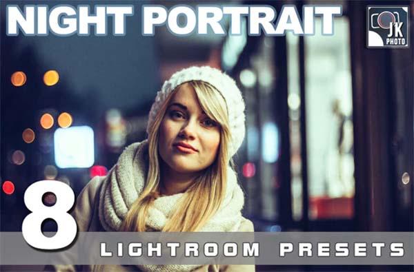 8 Night Portrait Lightroom Presets