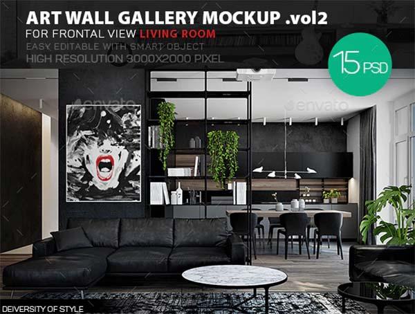 Art Wall Gallery Mockup