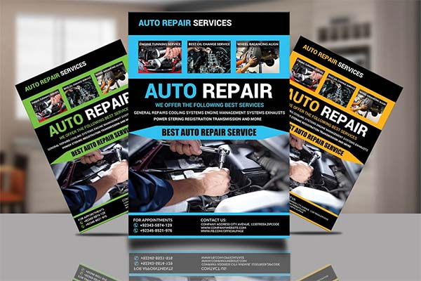 Auto Repair Flyer Design