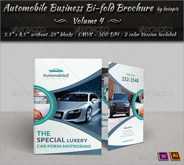 Automobile Business Bi-Fold Brochure
