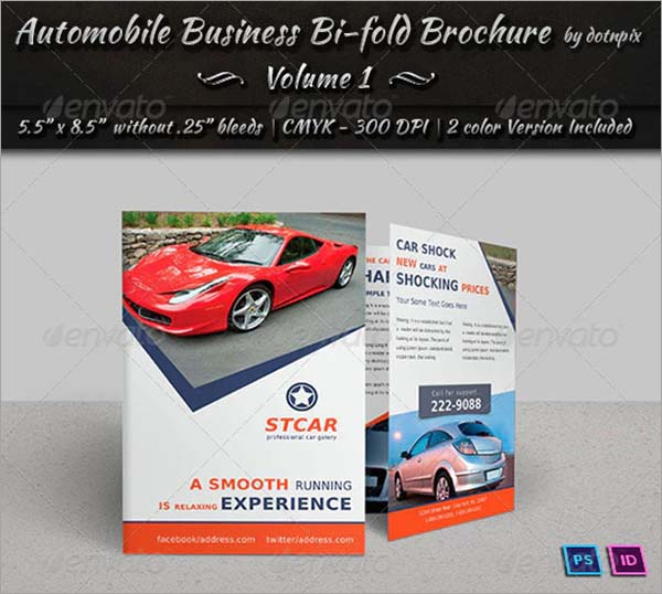 Automobile Bi-Fold PSD Brochure