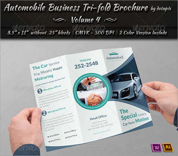 Automobile Tri-Fold Brochure Design