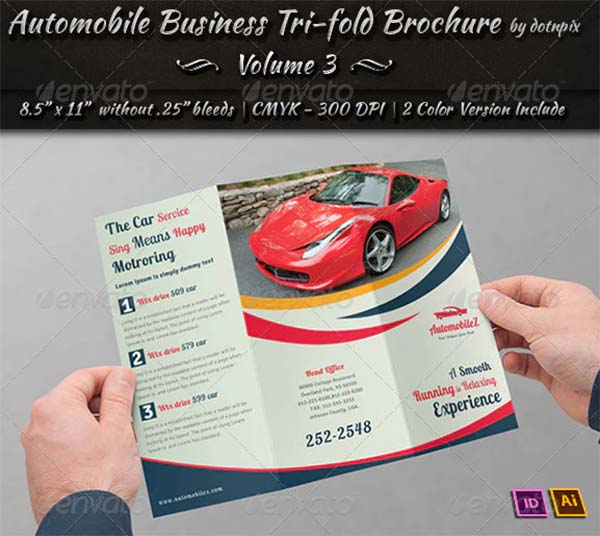 Automobile Business Tri-Fold Brochure