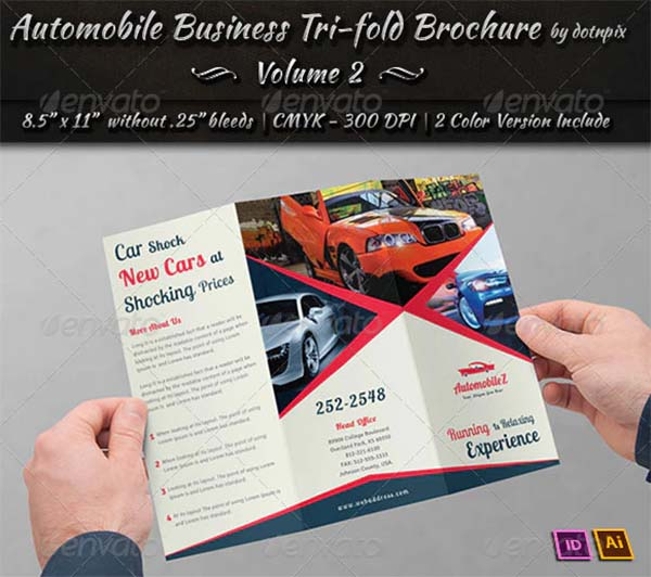 Automobile Tri-Fold Design Brochure