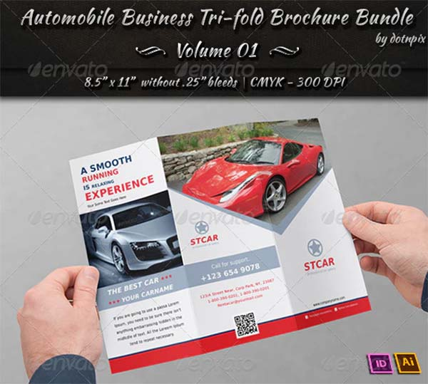 Automobile Business Tri-fold Brochure Bundle