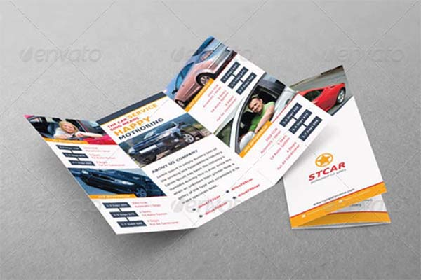 Automobile Tri-fold PSD Brochure Design