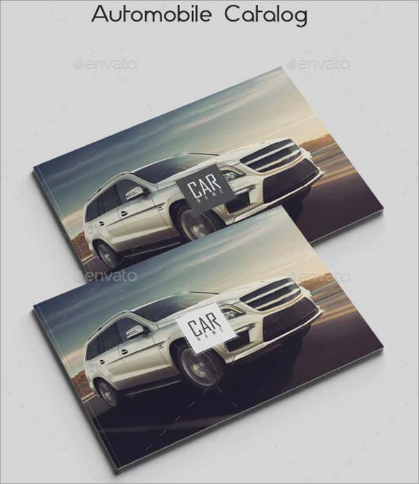 Automobile Catalog Brochure Templates