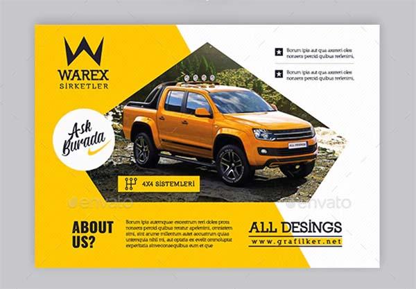 Automobile Introduction Flyer Templates