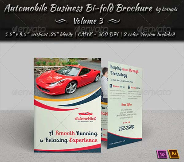 Automobile PSD Bi-Fold Brochure