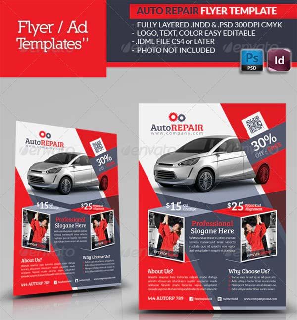 Automobile Repair Flyer PSD Template