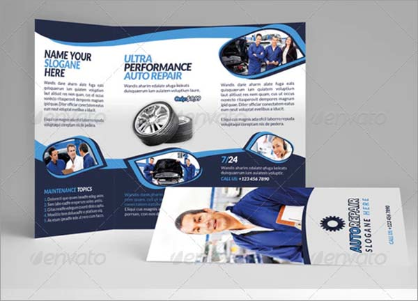 Automobile Repair Tri-Fold Brochure